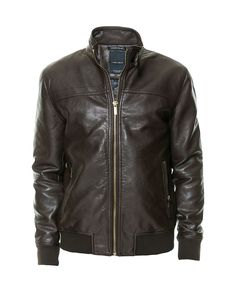 FAUX LEATHER JACKET WITH CHEST SEAM - Coats and Jackets - Man | ZARA United States