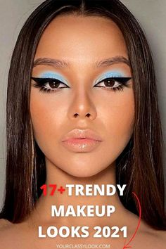 Discover amazing makeup trends 2021, beauty trends, eye makeup, makeup ideas, makeup looks, natural makeup looks, trendy makeup, eyeshadows, eyeliner, glossy eyeshadows, bright lips trend, color eyeliner trend, thin eyeliner makeup, nude makeup ideas, shine skin trend, brushed up eyebrows makeup, red lipstick makeup look, bold eyeshadow and even more trends! #makeup #winter #makeupideas #makeuplook #naturalmakeup #nudemakeup #redlips #glossyeyeshadows #eyebrows #skin #beauty #fall
