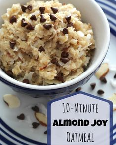 The delicious flavors of an Almond Joy candy bar ... in a healthy, super-fast stovetop oatmeal! The whole family will love it, and it'll keep 'em fueled up all morning! Seriously yummy!