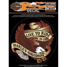 Harley-Davidson étiquette/Autocollant  VIVRE POUR CONDUIRE  Adler,Eagle DC009393