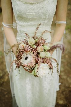 unusual bouquet, what are those flowers?