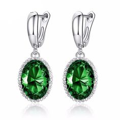 High Quality Colorful Stones Silver Earring