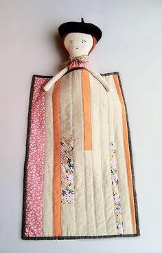 Doll Quilt. Linen doll quilt