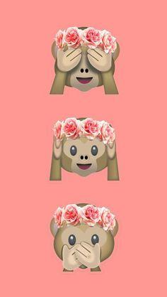 Wallpaper macaquinho de flores