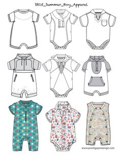 Baby Boy Outfits, Kids Outfits, Summer Outfits, Silhouette Mode, Fashion Pattern, Summer Boy, Fashion Design Sketches, Baby Costumes, Baby Design