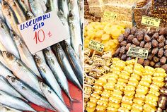 Turkish Delights: Palaces, Mosques and Bazaars | You'll find a variety of foods for sale at the Spice Market, including fresh fish and an assortment of dried fruits.