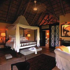 Brides.com: Top 10 Resorts in Africa and the Middle East. 7. Royal Malewane, South Africa    On a private reserve in Kruger National Park, this haute safari lodge pampers honeymooners with a lap pool, a full spa, and lavish suites. Sink into your claw-foot tub (it sits next to a floor-to-ceiling window) or your private plunge pool and do a little wildlife watching; it's not unheard of for elephants to drop by; Royal Malewane.