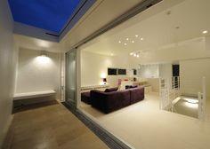"""LSD design co., ltd. """"stool""""_2011_house_Okinawa, Japan_simple house design_tile living_white interior_facade design_ newly built house"""