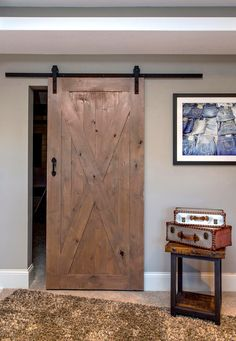 The X Barn Door is a versatile statement piece for your home! Add an antiqued…