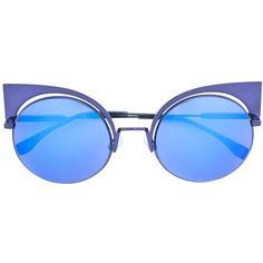 7480f5d36fea Fendi Eyeshine sunglasses ( 640) ❤ liked on Polyvore featuring accessories