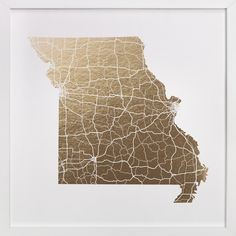 Missouri Map by GeekInk Design at minted.com