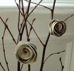 Handmade birch bark roses