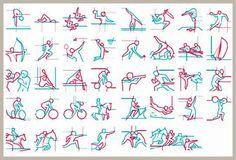 2012年ロンドン五輪で使用されたピクトグラム 画像引用:http://gigazine.net/news/20100903_olympic_pictograms/