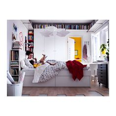 БРИМНЭС Каркас кровати с изголовьем - 140x200 см, - - IKEA