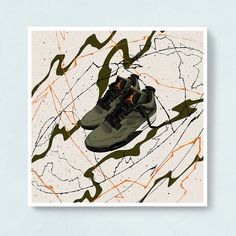 The Undefeated 4s Sneaker Art from the Ecstatic Aftermath Series.
