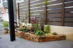 アンティークレンガの花壇