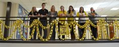 East HS students support #ChainOfLife in support of the Yellow Ribbon Program which addresses youth suicide through education, awareness, and training. #awareness