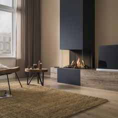 ・・・ Trimline Fires creates panoramic views with this Trimline 🔥 A three-sided panoramic fireplace that will elevate any decor - compact but stylish . Home Fireplace, Modern Fireplace, Living Room With Fireplace, Fireplace Design, Fireplace Glass, Living Room Tv, Home Interior Design, Stylish Interior, Living Room Designs