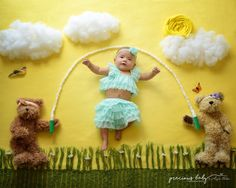 3 month old jump rope jumping Baby ImaginArt Angela Forker Precious Baby Photography bears scene www Monthly Baby Photos, Baby Girl Photos, Cute Baby Pictures, Foto Newborn, Baby Boy Newborn, Newborn Baby Photography, Newborn Photos, Foto Baby, Baby Poses