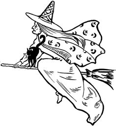 Free Flying Witch Clip Art! - The Graphics Fairy