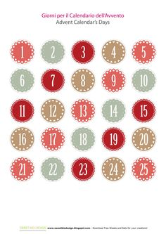 Tutorial: Calendario dell'Avvento - Advent Calendar