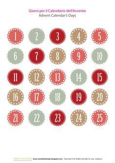 Sweet Bio design: Tutorial: Calendario dell'Avvento - Advent Calendar