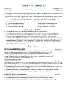 resume overview leader instructional designeducation technology my higheredjobs - Instructional Designer Resume