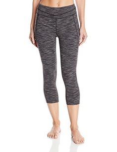 Lucy Womens Hatha Capri Legging Lucy Black Space Dye Stripe XSmall * Read more  at the image link. (Note:Amazon affiliate link)