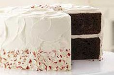 This is the best chocolate cake recipe EVER! I have tried the whole candy cane thing and it wasn't my fav, so I just omitted all directions after the first 6 ingredients. Top with cool whip or home made buttercream icing (my fav)! Happy Baking!