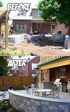 Outdoor Living Area Before & After (Ephrata, PA)