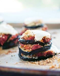 I cheated and used Italian seasoned Panko and a jar of sauce.  Grilled Eggplant Parmesan Recipe | Leite's Culinaria