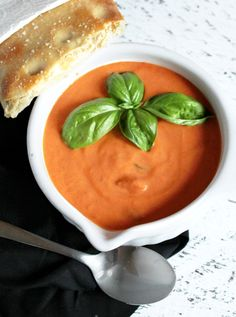 Cosi Tomato basil soup and flatbread recipe ~ Cosi Tomaten Basilikum Supper Brot rezept