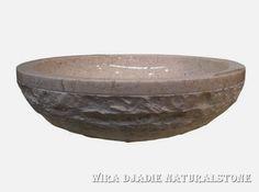 Sink Bowl Outside Mix Polish Alur Marmo Color : Cream Size: Ø 35 cm X H. 15 cm Ø 40 cm X H. 15 cm Ø 45 cm X H. 15 cm