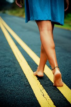 Sometimes you just have to walk the line...the yellow line...and take the risk..