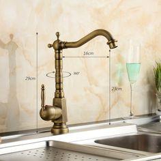 Einhebel Waschtischarmatur Antik Messing im Badezimmer zu günstigen Preisen kaufen