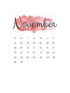 Kids Calendar, Calendar 2020, November Calender, Paint Splash Background, Birthday Calender, November Wallpaper, Miniature Calendar, Calendar Wallpaper, Printable Calendar Template