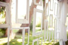 hanging photo frame backdrop / divider