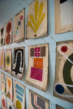 Collage art - Julie Wolfe Inside The Artist Studio art – Collage art Collage Magazine, Editorial Magazine, Picasso Paintings, Van Gogh Art, Painting Process, Art Studios, Collage Art, Collage Walls, Henri Matisse