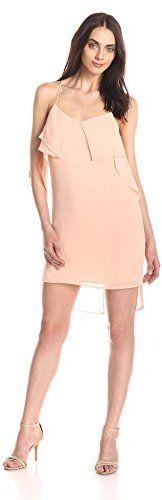 BCBGeneration Women's Flounce-Front Dress