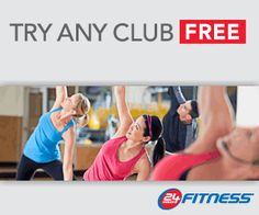 1 free week at 24 Hour Fitness!