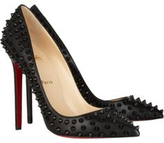 Get the must-have pumps of this season! These Christian Louboutin Black Spiked Pigalle Pumps Size EU 41 (Approx. US Regular (M, B) are a top 10 member favorite on Tradesy. Christian Louboutin Red Bottoms, Louboutin High Heels, Christian Louboutin Outlet, Peep Toe Pumps, Pumps Heels, Sexy Heels, Stilettos, Black Heels, High Heel Boots