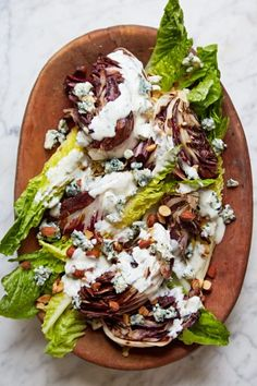 Giada De Laurentiis Vegetarian Recipes: Healthier Wedge Salad Giada Recipes, Pasta Recipes, Vegetarian Recipes, Savoury Recipes, Healthy Recipes, Yummy Recipes, Salad Recipes, Keto Recipes, Yummy Food