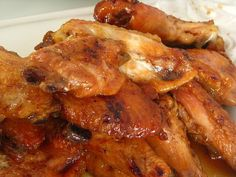 Crock pot Chicken Wings With Honey BBQ Sauce   The Motherload