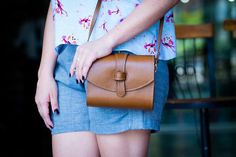 Handmade leather bag / Leather crossbody by MissMeloAccessories