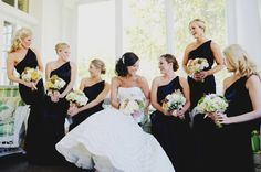 Elegant Blush & Gold North Carolina Wedding....Love the dresses