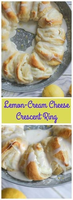 WHO in the world doesn't love to happily indulge in warm lemon-cream cheese filling enrobed in Pillsbury's buttery, golden baked crescent roll dough, and drizzled with a sweet cream glaze Lemon Desserts, Lemon Recipes, Köstliche Desserts, Baking Recipes, Sweet Recipes, Delicious Desserts, Dessert Recipes, Yummy Food, Pillsbury Recipes