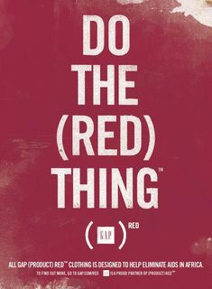 Gap Do the (Red) Thing | The Inspiration Room