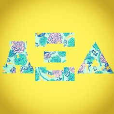 Lilly <3 Thanks for everyone's submissions! #craftmyletters #alphaxidelta #sorority