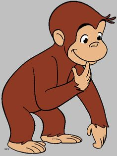 Free Printable Monkey Clip Art | Curious George Clipart - Quality Cartoon Characters Clipart Images ...