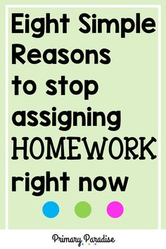 Homework: should you still be sending it home in your elementary classroom? Here are 8 reasons why you shouldn't waste your (or your students' time) with homework. Back To School Organization, Back To School Hacks, Teacher Organization, Teacher Hacks, School Ideas, Teaching Second Grade, First Grade Reading, Upper Elementary, Elementary Schools